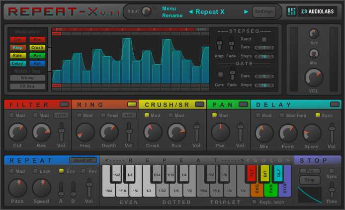Repeat X  stutter / multi effect vst plugin